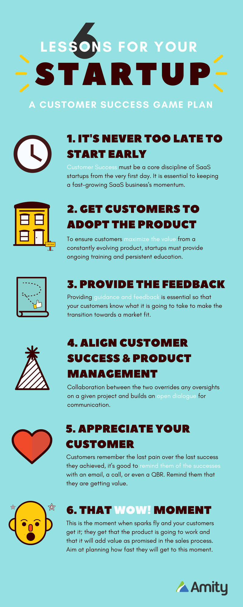 6 Lessons for Your Startup Infographic