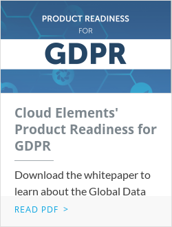 Cloud Elements' Product Readiness for GDPR