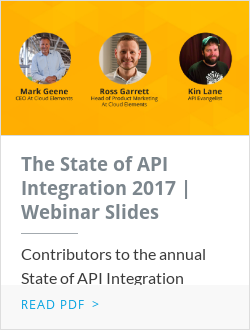 The State of API Integration 2017 | Webinar Slides