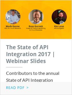 The State of API Integration 2017 | Webinar Slides