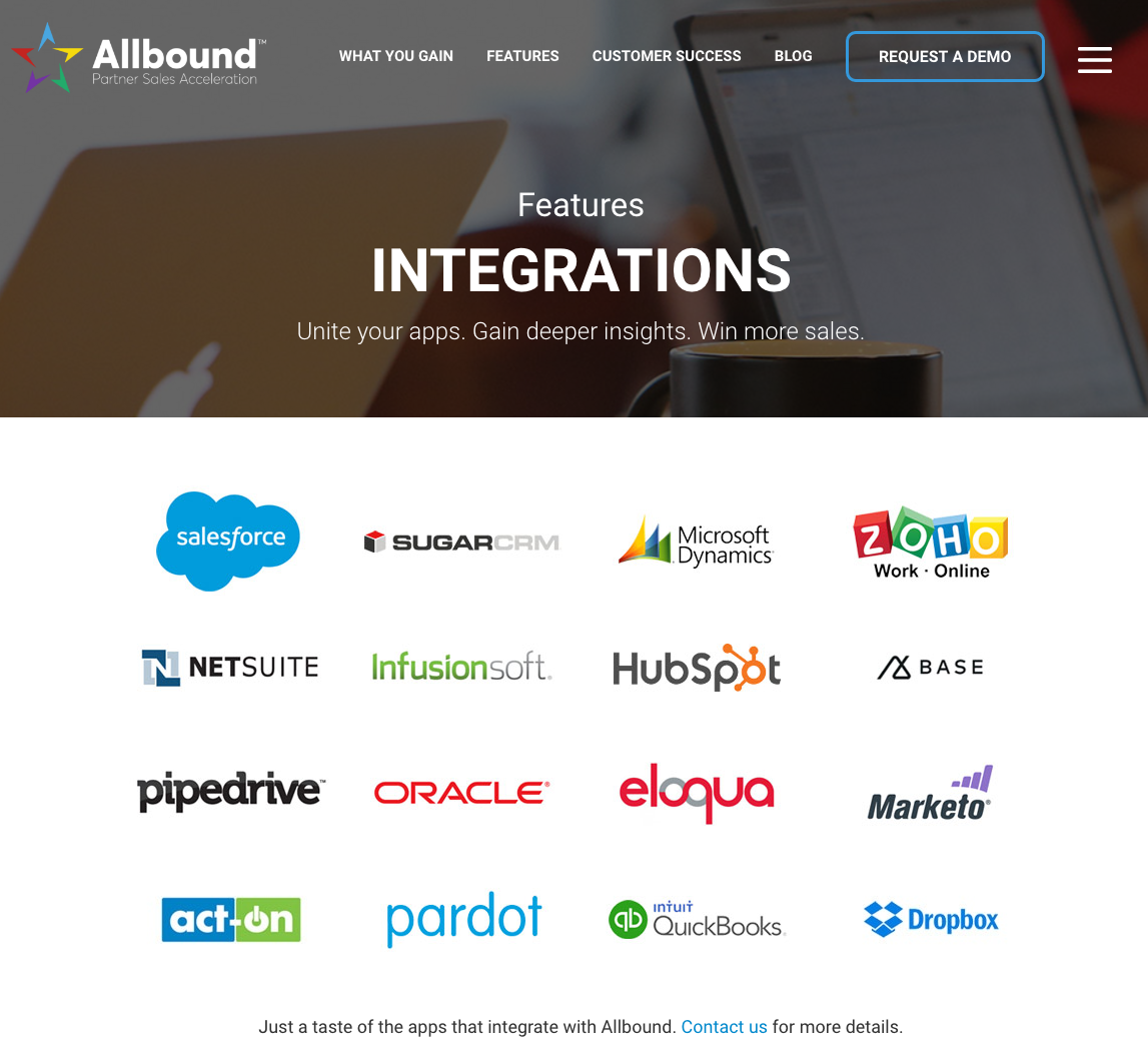 Allbound Integration Catalog