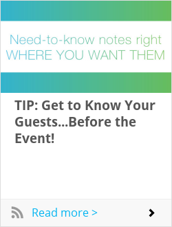 TIP: Get to Know Your Guests...Before the Event!