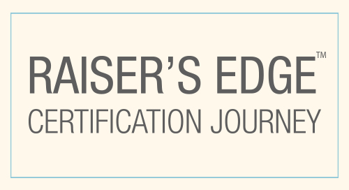 INFOGRAPHIC: Raiser's Edge Certification Journey