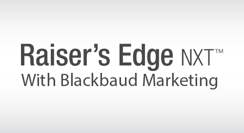 DATASHEET: Raiser's Edge NXT with Blackbaud Marketing