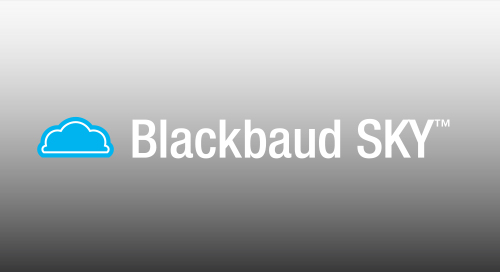 DATASHEET: Blackbaud SKY - The Modern, Open Cloud