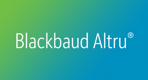 DATASHEET: Blackbaud Altru for Major Giving