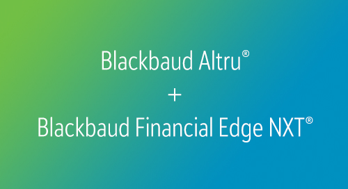 DATASHEET: Blackbaud Ticketing + Nonprofit Accounting Bundle