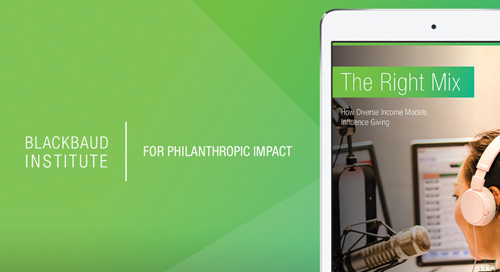 eBOOK: The Right Mix: How Diverse Income Models Influence Giving