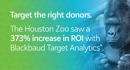 FORRESTER REPORT: The Houston Zoo Saw a 373% Increase in ROI with Blackbaud Target Analytics