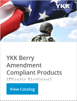 YKK Berry Amendment Compliant Products (Plastic Notions)
