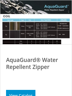 AquaGuard® Water Repellent Zipper