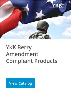 YKK Berry Amendment Compliant Products