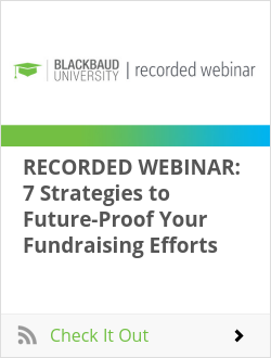 RECORDED WEBINAR: 7 Strategies to Future-Proof Your Fundraising Efforts