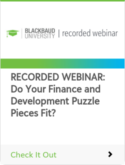 RECORDED WEBINAR: Do Your Finance and Development Puzzle Pieces Fit?
