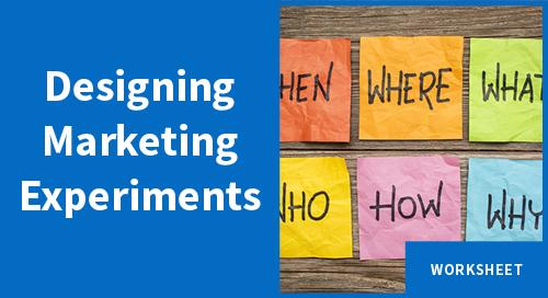 Designing Marketing Experiments Worksheet