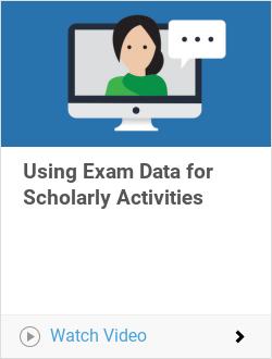 Using Exam Data for Scholarly Activities