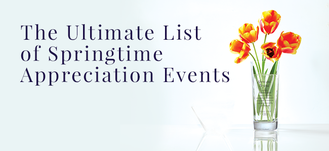The Ultimate List of Springtime Appreciation Events: Engraved Gift Vase | Baudville.com