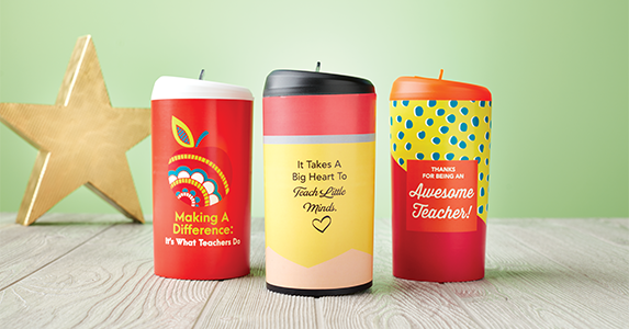 Teacher Gift: Colorful Pop-Top Water Bottles