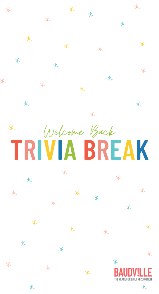Welcome Back Trivia Game