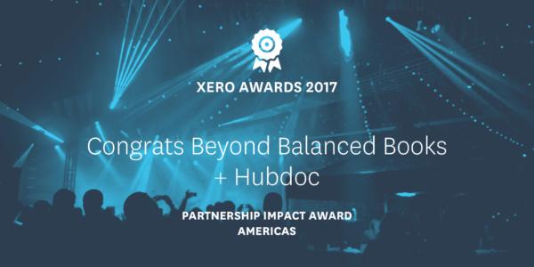 Hubdoc and Beyond Balanced Books wins Partnership Impact Award