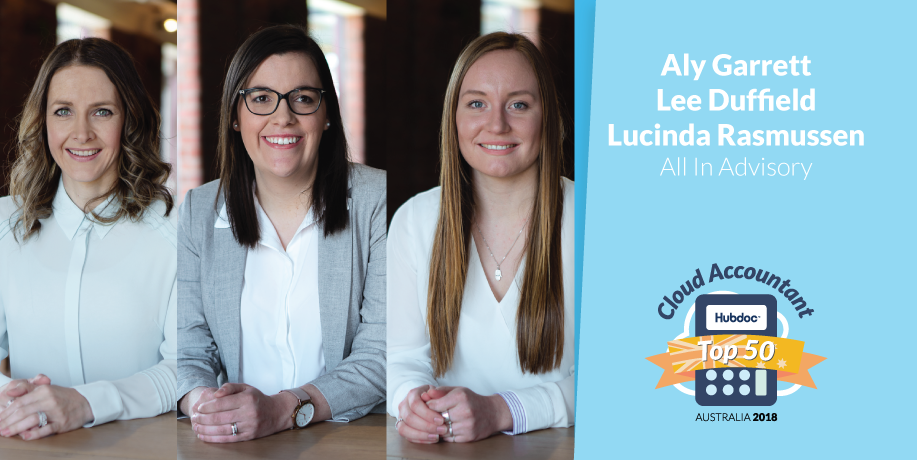 Aly Garrett, Lee Duffield & Lucinda Rasmussen, All In Advisory