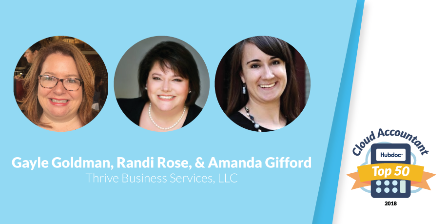 Gayle Goldman, Randi Rose & Amanda Gifford, Thrive Business Services, LLC