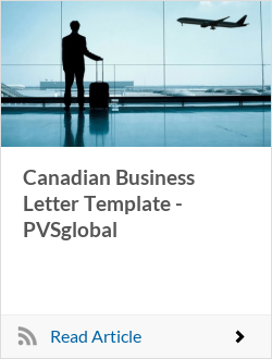Canadian Business Letter Template - PVSglobal