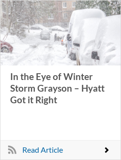 In the Eye of Winter Storm Grayson – Hyatt Got it Right