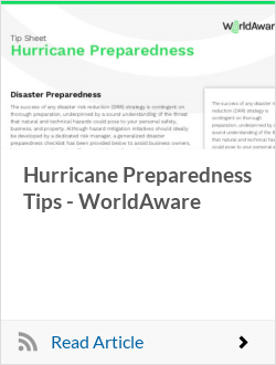 Hurricane Preparedness Tips - WorldAware