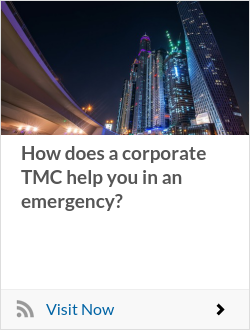How does a corporate TMC help you in an emergency?