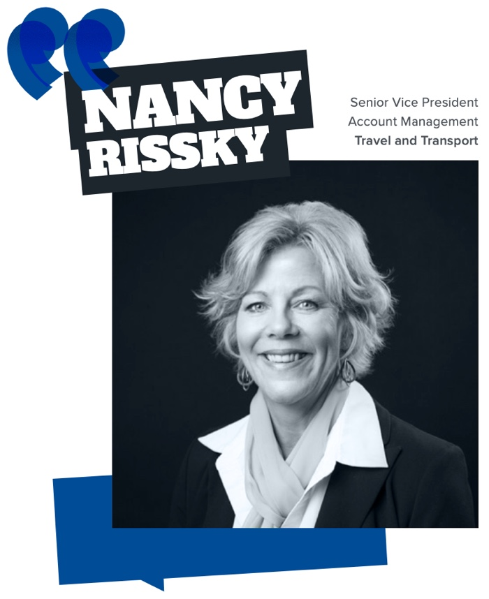 Nancy Rissky, Senior VP, Account Management, Travel and Transport