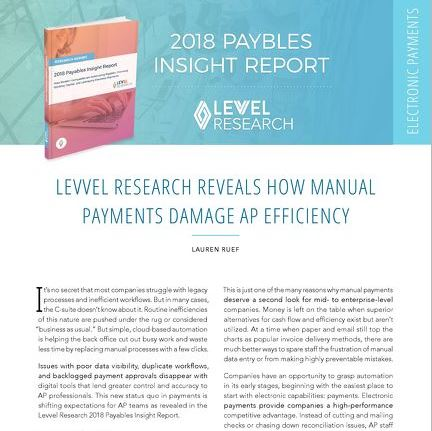 2018 Payables Insight Report Analysis