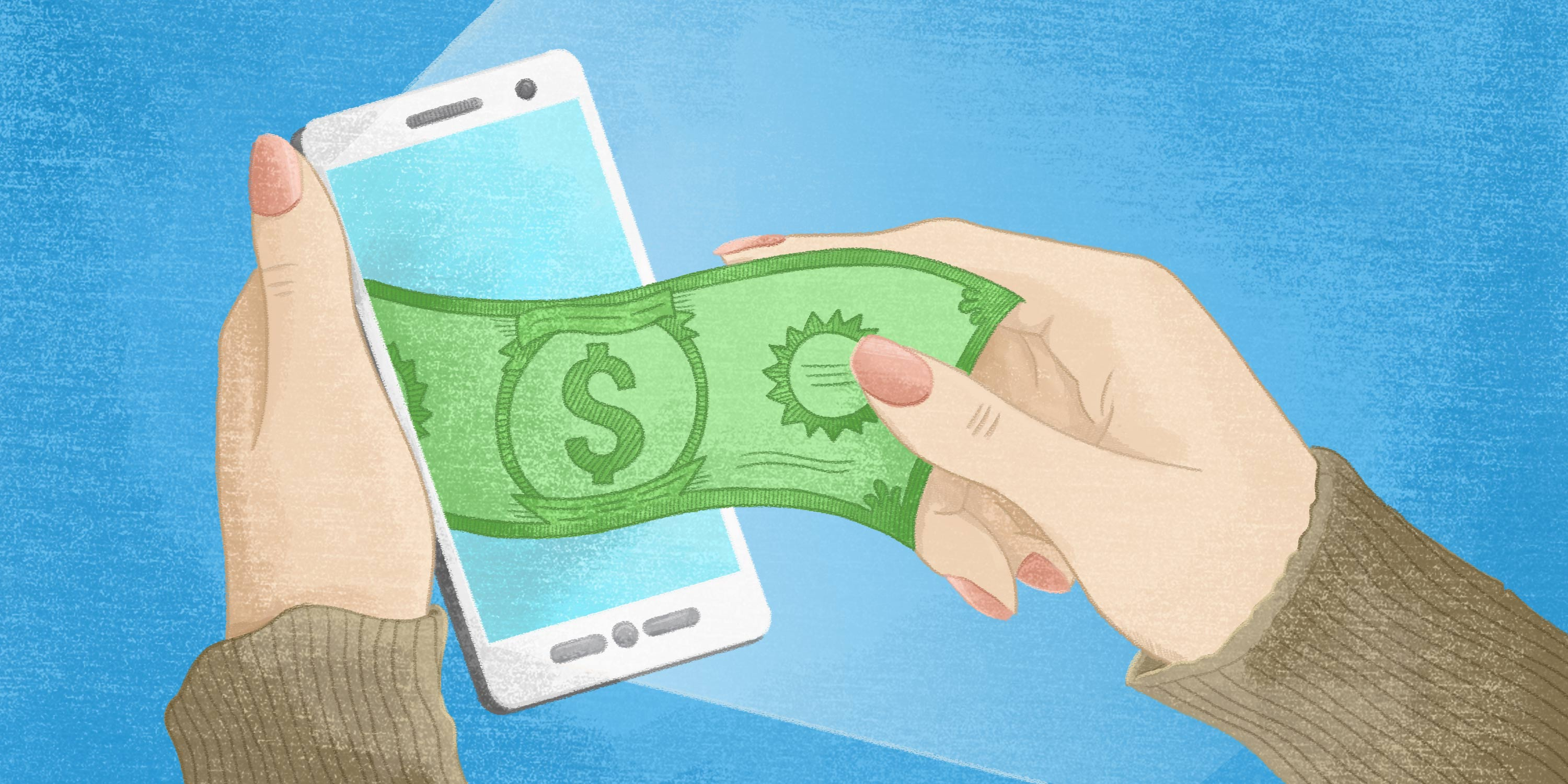 B2B payments coming out of a smart phone screen