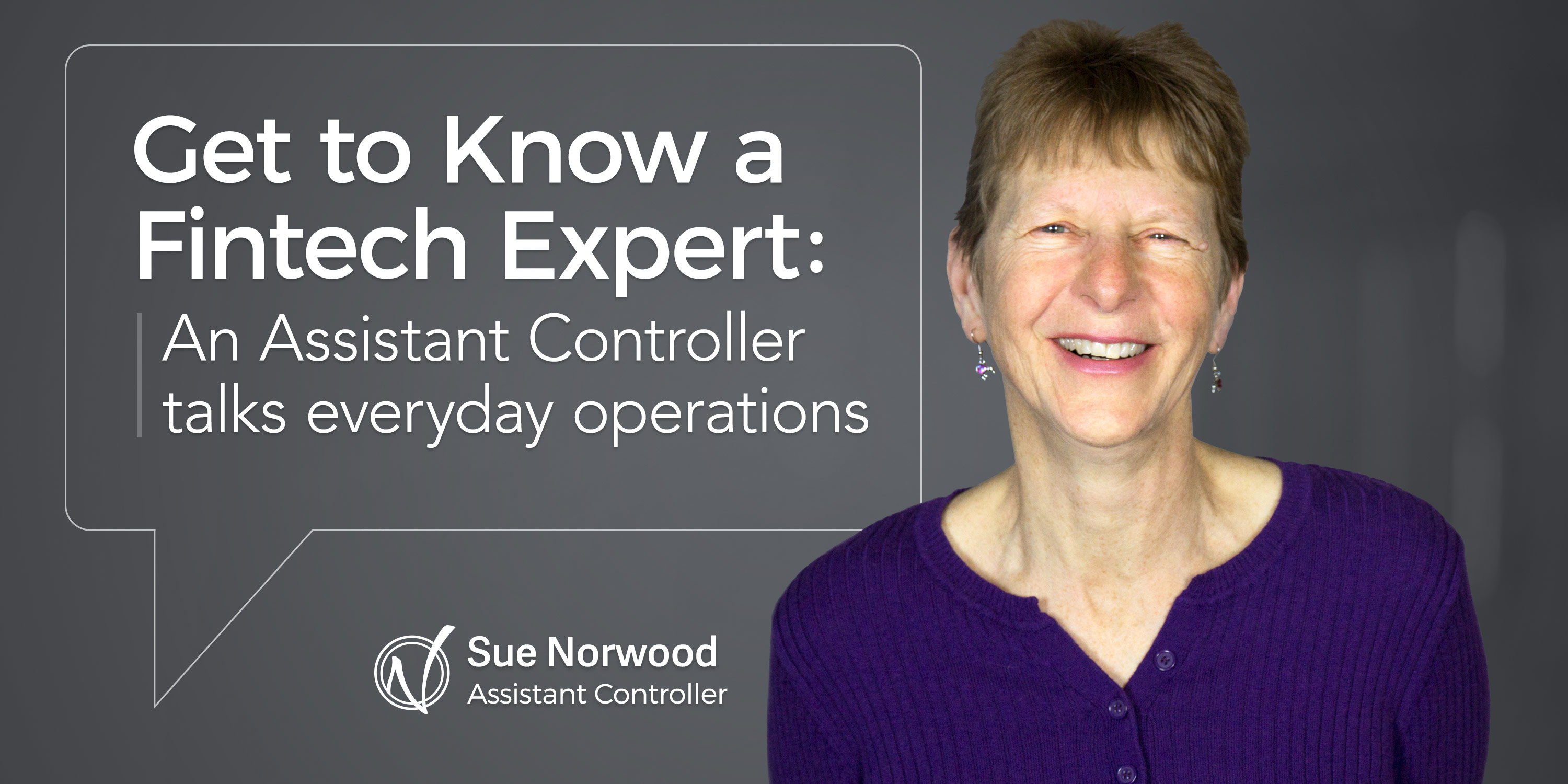Sue Norwood, assistant controller at Nvoicepay