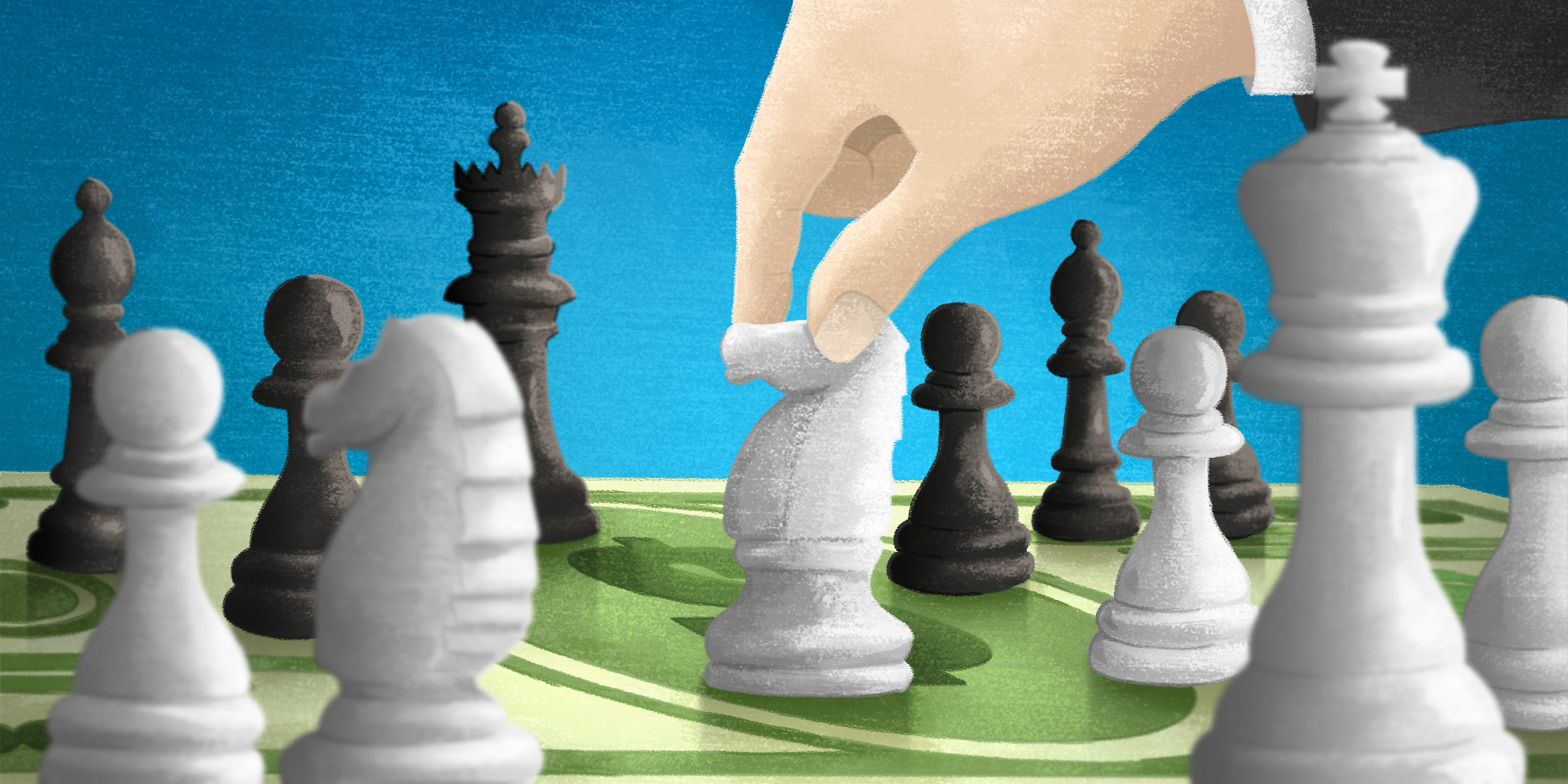 chess game depicting the strategy in business epayments