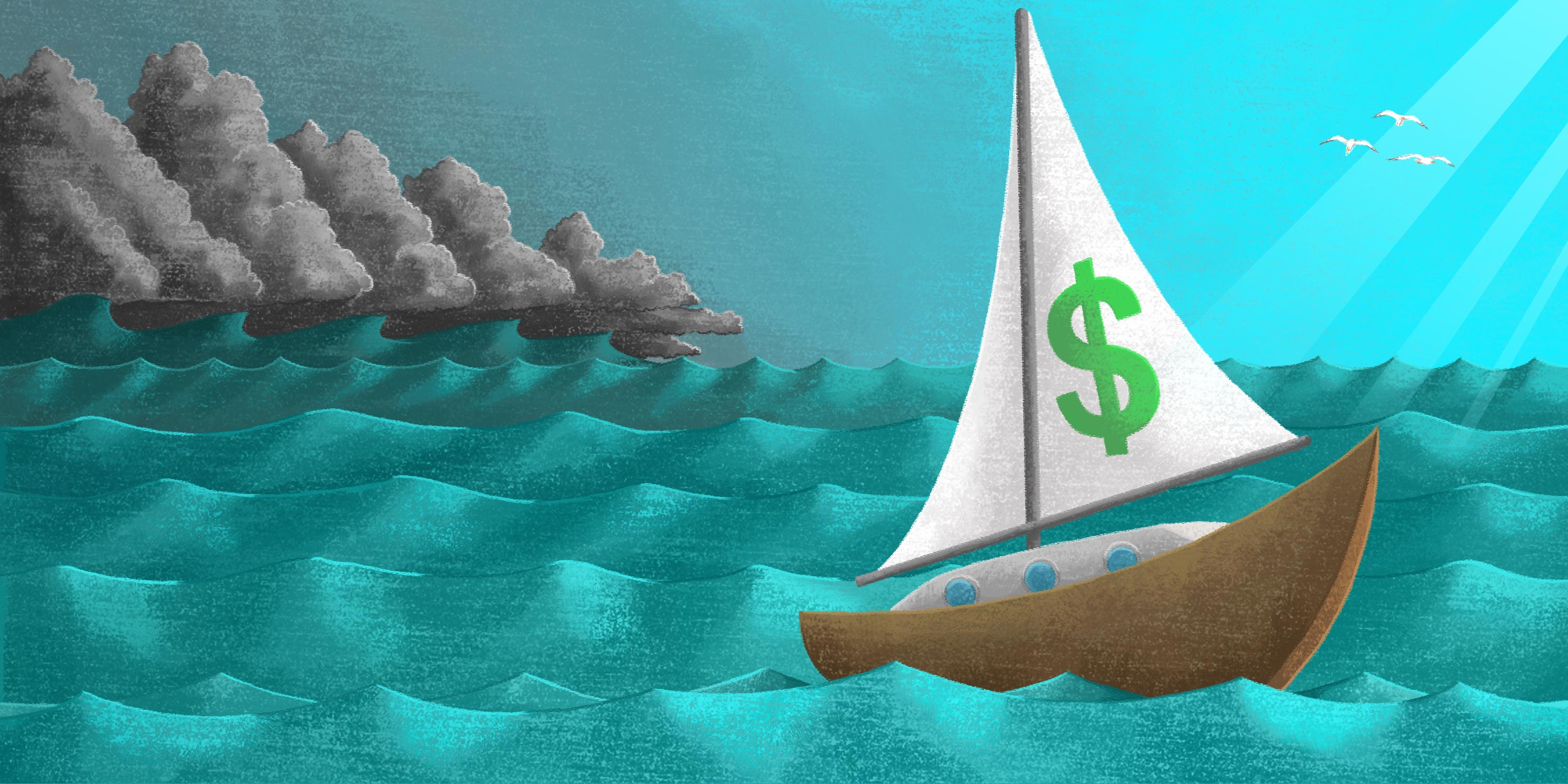 sailboat on the ocean in the calm before the storm - the time to automate supplier payments