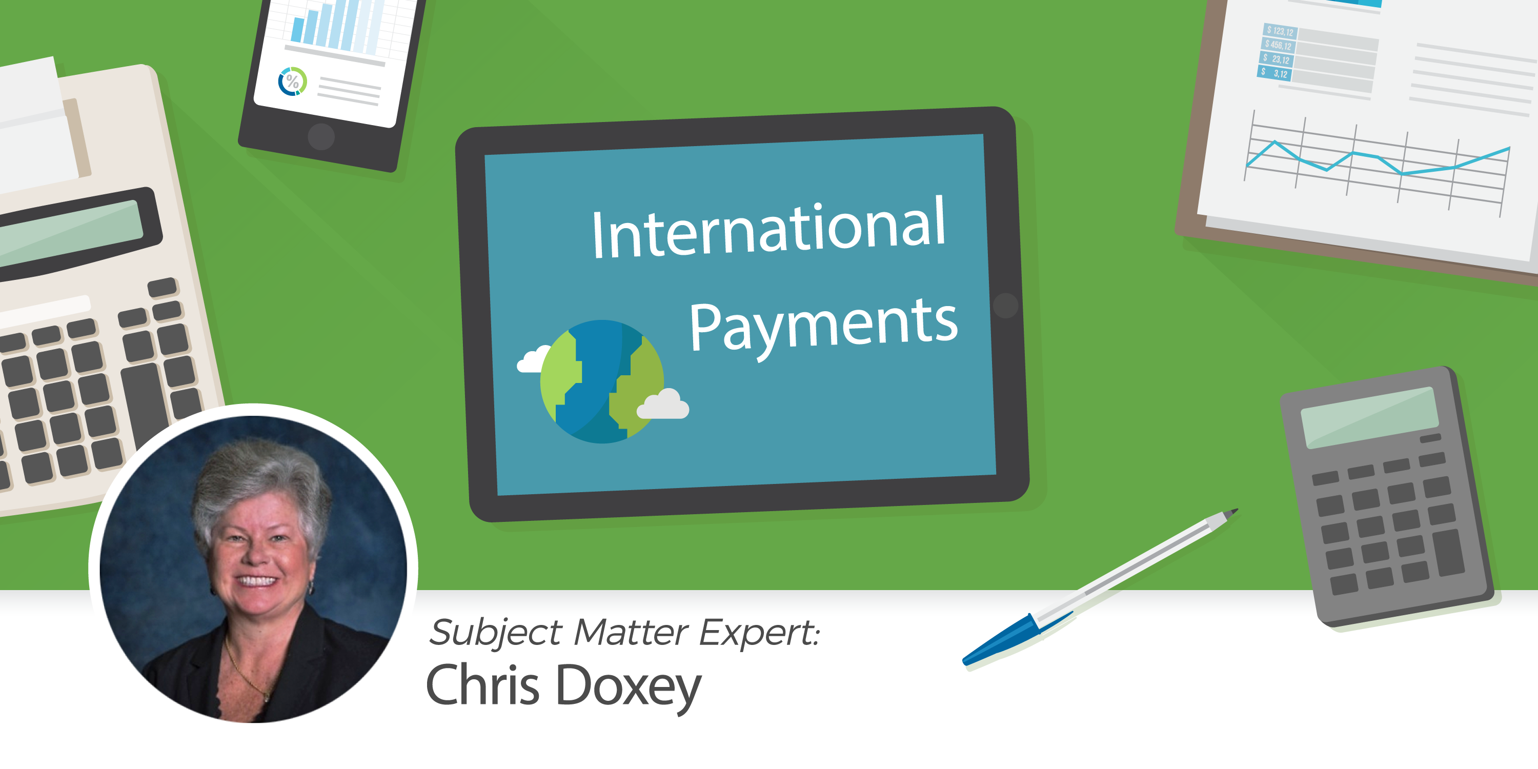 accounting expert Chris Doxey presents blockchain, fintech, and international payments