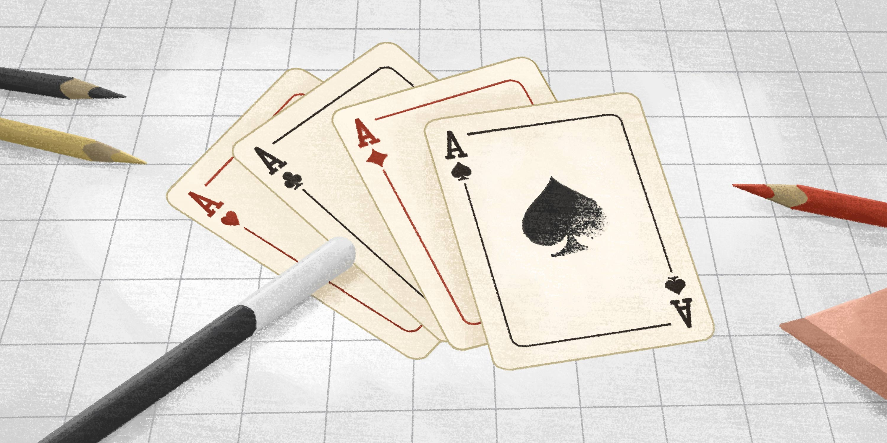 playing cards showing tricks up AP's sleeve to improve the payables process