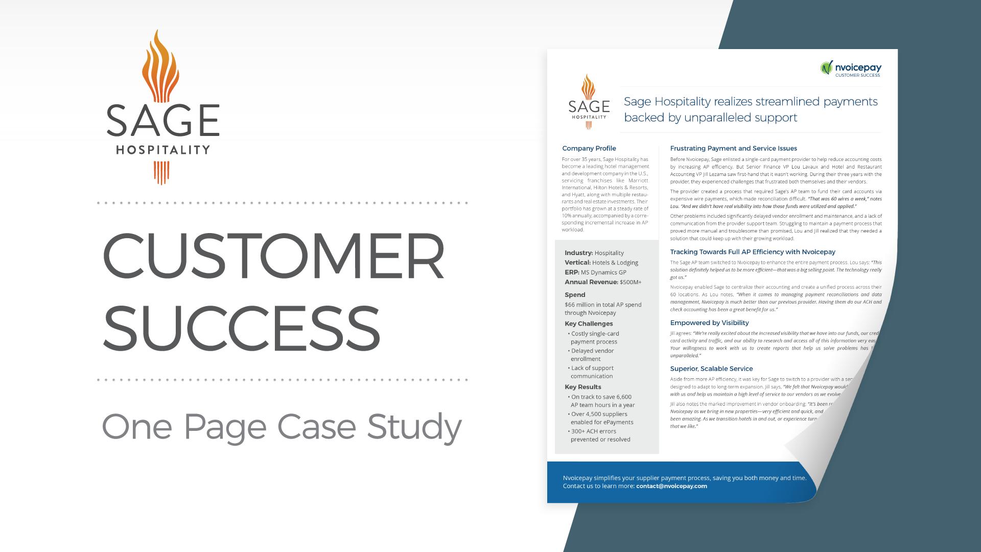 Customer Story: Sage Hospitality