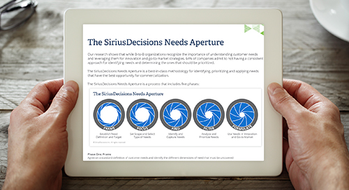 The SiriusDecisions Needs Aperture