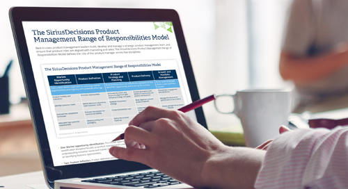 The SiriusDecisions Product Management Range of Responsibilities Model