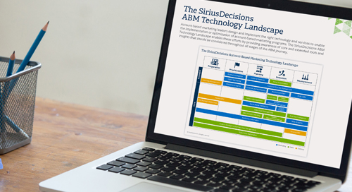 The SiriusDecisions ABM Technology Landscape