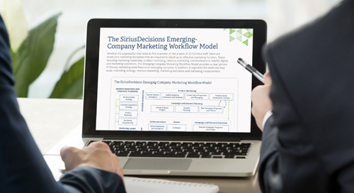 The SiriusDecisions Emerging Company Marketing Workflow Model