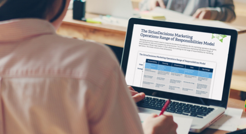 The SiriusDecisions Marketing Operations Range of Responsibilities Model