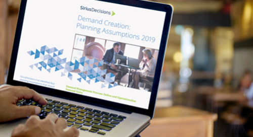 Demand Creation Planning Assumptions Guide 2019
