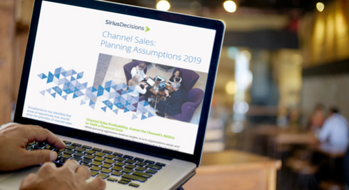 Channel Sales Planning Assumptions Guide 2019