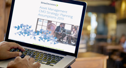 Asset Management CMO Strategy Planning Assumptions Guide 2019