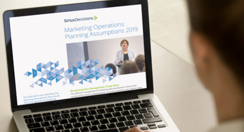 Marketing Operations Planning Assumptions Guide 2019