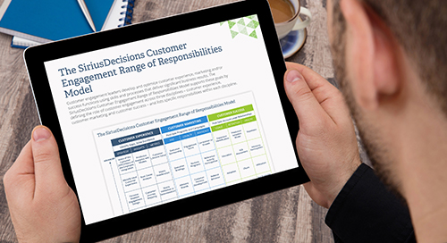 The SiriusDecisions Customer Engagement Range of Responsibilities Model