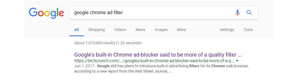 "What does the upcoming Google Chrome ""ad filter"" mean for e-commerce marketing?"